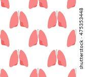 seamless pattern. human lungs.... | Shutterstock .eps vector #475353448