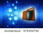 3d illustration of folder icon... | Shutterstock . vector #475354750