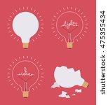 set of four light bulbs against ... | Shutterstock .eps vector #475355434