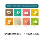 commitment flat icon set | Shutterstock .eps vector #475356238