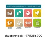 corporate management flat icon... | Shutterstock .eps vector #475356700