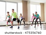 fitness  sport  training and... | Shutterstock . vector #475356760