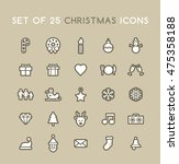 set of solid christmas icons.