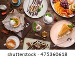 Different Desserts With Fruits...