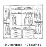 hand drawn wardrobe sketch....   Shutterstock . vector #475365463