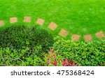 pathways with green lawns ... | Shutterstock . vector #475368424