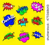 comic sound effects in pop art... | Shutterstock .eps vector #475368643