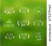 gluten free vector label sign... | Shutterstock .eps vector #475379464