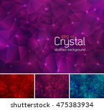 polygonal crystal abstract... | Shutterstock .eps vector #475383934