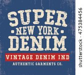 vintage effected tee print... | Shutterstock .eps vector #475384456