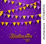 illustration halloween party... | Shutterstock .eps vector #475384933
