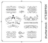 wedding invintation collection. ... | Shutterstock .eps vector #475389904