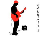 Silhouette Musician Plays The...