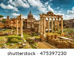 View Of Roman Forum With Templ...