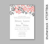 wedding invitation template or... | Shutterstock .eps vector #475397866