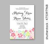 wedding invitation template or... | Shutterstock .eps vector #475397968
