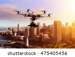 drone flying over san francisco ... | Shutterstock . vector #475405456