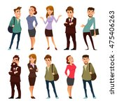 business  cartoon characters ... | Shutterstock .eps vector #475406263