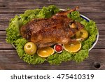 Baked Young Duck With Apples...