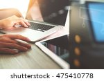 website designer working... | Shutterstock . vector #475410778