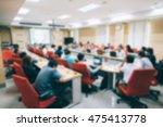 blur background of seminar room ... | Shutterstock . vector #475413778