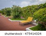 sun loungers on cinta costera   ... | Shutterstock . vector #475414324