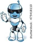 toy robot mascot. vector clip... | Shutterstock .eps vector #475418110