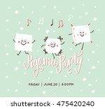slumber party invite free vector art 11016 free downloads