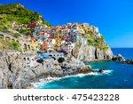 manarola town  cinque terre... | Shutterstock . vector #475423228
