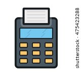 billing machine vector icon | Shutterstock .eps vector #475423288