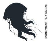 vector jellyfish hand drawn... | Shutterstock .eps vector #475432828