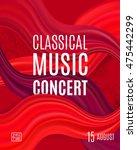 classical music concert poster... | Shutterstock .eps vector #475442299