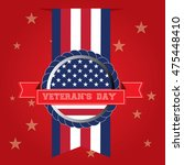 veteran's day background with... | Shutterstock .eps vector #475448410