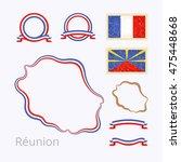 outline map of  reunion. border ... | Shutterstock .eps vector #475448668
