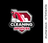 cleaning services logo  emblem  ... | Shutterstock .eps vector #475456456