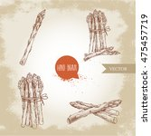 hand drawn sketch style set of... | Shutterstock .eps vector #475457719