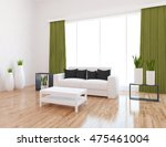 white empty interior with a... | Shutterstock . vector #475461004