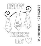 happy fathers day coloring page | Shutterstock .eps vector #475462819