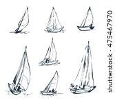 set of vector drawings of... | Shutterstock .eps vector #475467970