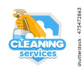 cleaning services logo   emblem ...   Shutterstock .eps vector #475472863