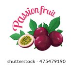 passion fruit. vector... | Shutterstock .eps vector #475479190