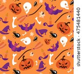 seamless pattern halloween... | Shutterstock .eps vector #475481440