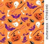 seamless pattern halloween... | Shutterstock .eps vector #475481440