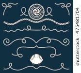 rope set  vector illustration... | Shutterstock .eps vector #475481704