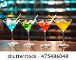 multicolored cocktails at the... | Shutterstock . vector #475486048