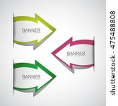 arrows banner set   isolated on ... | Shutterstock .eps vector #475488808