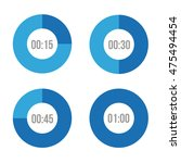 timer icons vector circles | Shutterstock .eps vector #475494454