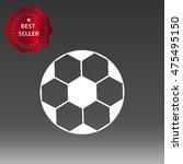 football ball vector icon...