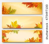 set of three horizontal banners ... | Shutterstock .eps vector #475497100