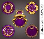 set of elegant templates for... | Shutterstock .eps vector #475499158